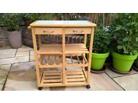 ***REDUCED FOR QUICK SALE****KITCHEN ISLAND BUTCHERS BLOCK PATIO FURNITURE KITCHEN TROLLEY BARBEQUE