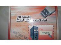 USB 4-Port Internal Hub – Fits 5.25 inch drive bay