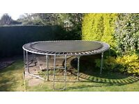 Perfect Easter present-Very good condition TP 12ft Trampoline / spare new bouncy mat / ladder.