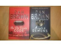 The da vinci code and angels and demons books dan brown