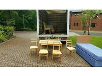 Beech wood table and 4 chairs £50 delivered