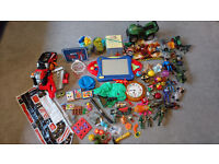 Massive Toy bundle. Mega blocks, puzzles, cars, dinosaurs, animals and more. Please see all pics!
