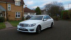 2013 63 MERCEDES-BENZ C CLASS 2.1C220CDI BLUEEFFICIENCY AMG SPORT PLUS AUTO*WHITE*FINANCE AVAILABLE*