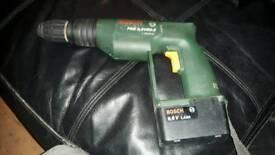 Bosch 9,6v drill + hammer drill