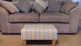Small Dunelm spotty multi-coloured footstool