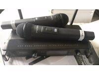 KAM 1932 HH dual wireless microphones.