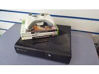 XBOX 360 4GB WITH 3 GAMES & RECEIPT