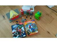 Postman pat, spiderman fireman sam bundle