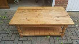 Large Pine coffee table rustic