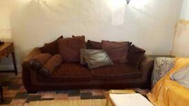 Brown 3 seat Sofa