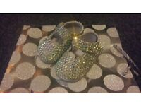 baby girl sparkly princess baby shoes 0-3 months