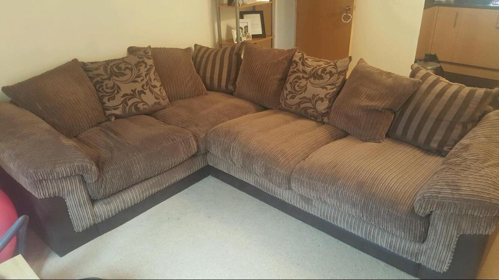 Quality dfs fabric corner sofa for sale in london gumtree for Fabric couches for sale