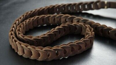 Schultergurt für Kamera aus Leder in Zigarren Braun von Rock n Roll Straps |Gr.L