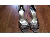 Gold shoes size 8
