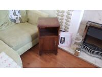 Vintage Retro Bedside Cabinet Bathroom Cabinet Side Table With Queen Anne Style Feet