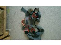 Black Diamond climbing belt in good condition. Orange and grey