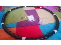 Exercise magnetic weight hula hoop