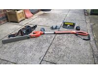 Flymo cordless hedge trimmer.