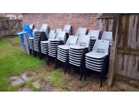 JOB LOT CHEAP STACKABLE HARD POLYPROPYLENE/PLASTIC CHAIRS