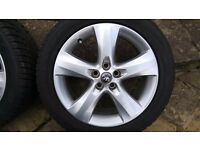 Astra j sri alloy wheels and Dunlop winter tyres.