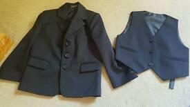 boys suit jacket and 3 waist coats