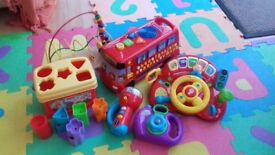 Baby toy bundle including Vtech phonics bus