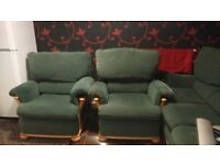 Sofa, 2 armchairs and footstool FREE for collection