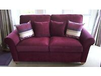 2 SEATER SOFA AND COFFEE TABLE BOTH AS NEW