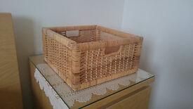 6 Brand NEW baskets, Rattan colour, 32x35x16cm