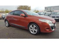 RENAULT MEGANE 1.5 DCI DYNAMIQUE 6 SPEED 3 DOOR COUPE PANORAMIC ROOF 2010 / 1 OWNER / £30 TAX / SH