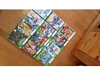 Xbox 360, kinnect, 3 x cobtrollers & selection of games