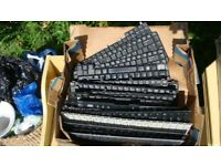 Joblot mix Laptop keyboard + other parts spares repair