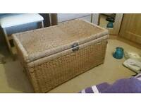 Used Wicker Basket With Lid