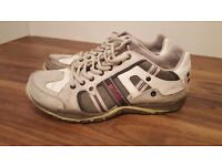 Mustang Shoes Mens Classic Lace Up Trainers Wite, Size 9/43