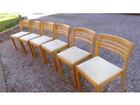 Oak Dining Chairs x6