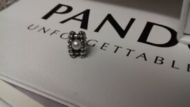 Genuine Pandora silver shell with pearl