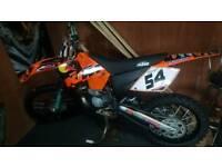 Motocross bike ktm sx 250 2 stroke off road 2003