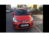 Hyundai i10 automatic 5dr red Comfort 2009 petrol 1.2 auto