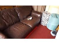 Brown sofa a year from DFS for 695. Doesn't go with our new decor needs a good home