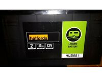 brand new 115 ah 12 v leisure battery