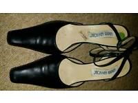 Leather black ankle strap 7