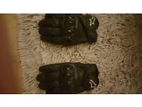 Bering summer motorbike jacket & alpine stars summer gloves