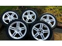 """5 x 17"""" Audi Alloy wheels"""