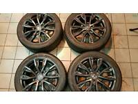 very nice original Honda alloys with tyres