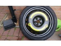 never used audi vw space saver wheel 5x100