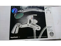 Bath shower mixer tap with hand-held shower