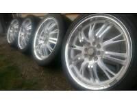 "17"" League alloy wheels 4x100 for Vauxhall Corsa Astra Honda civic Bmw mini"