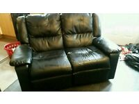 Recliner leather sofa free delivery