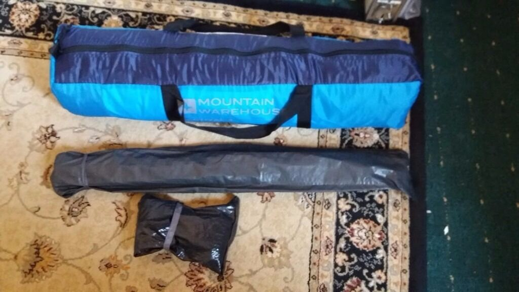 Mountain Warehouse 4 Man Tent, Opened up to check size in garden but NEVER USED!