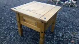 Rustic Mexican pine lamp table